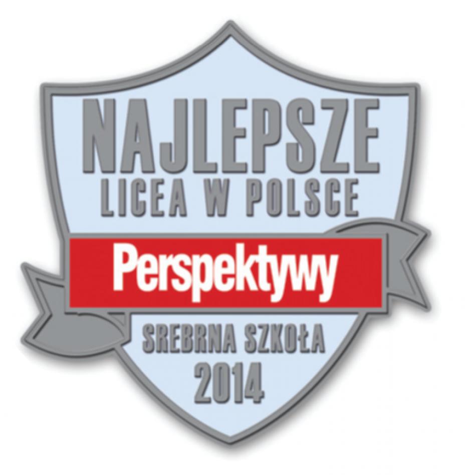 """Jesteśmy wśród najlepszych liceów – Ranking """"Perspektyw"""" 2014"""
