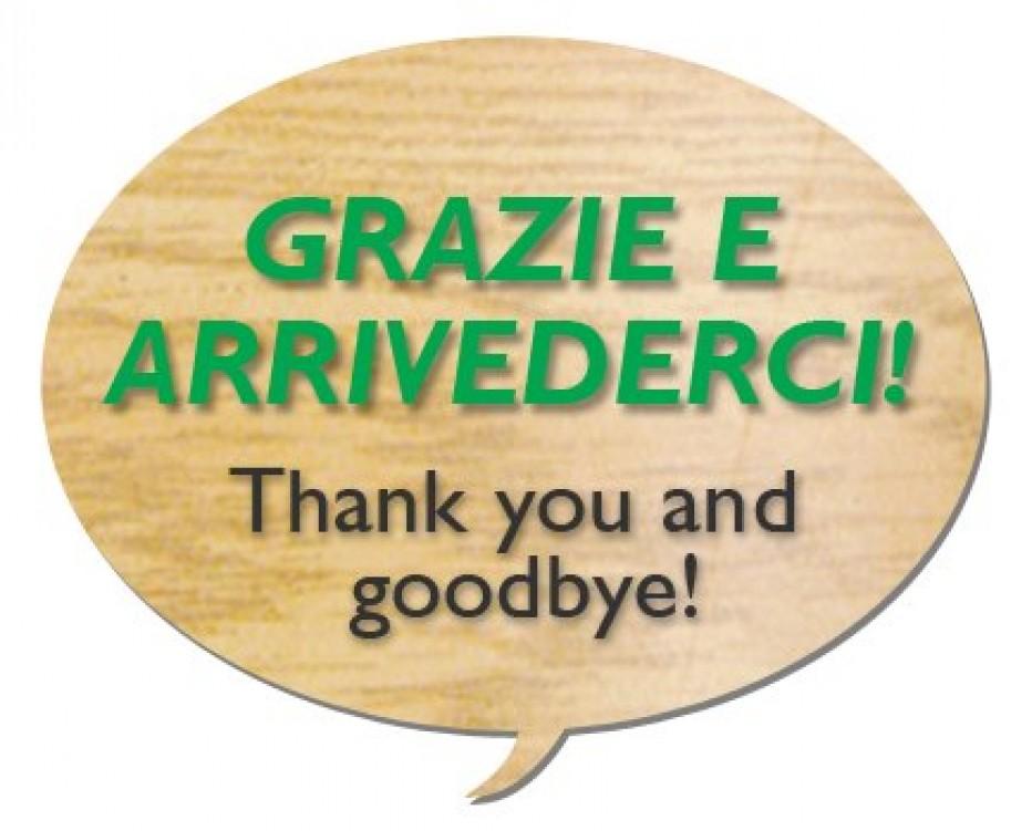 Włosi dziękują za pobyt w naszej szkole