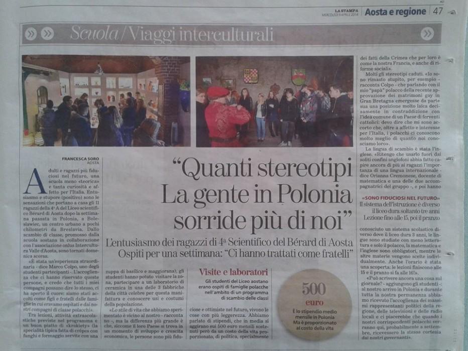 Włoska prasa o naszej wymianie