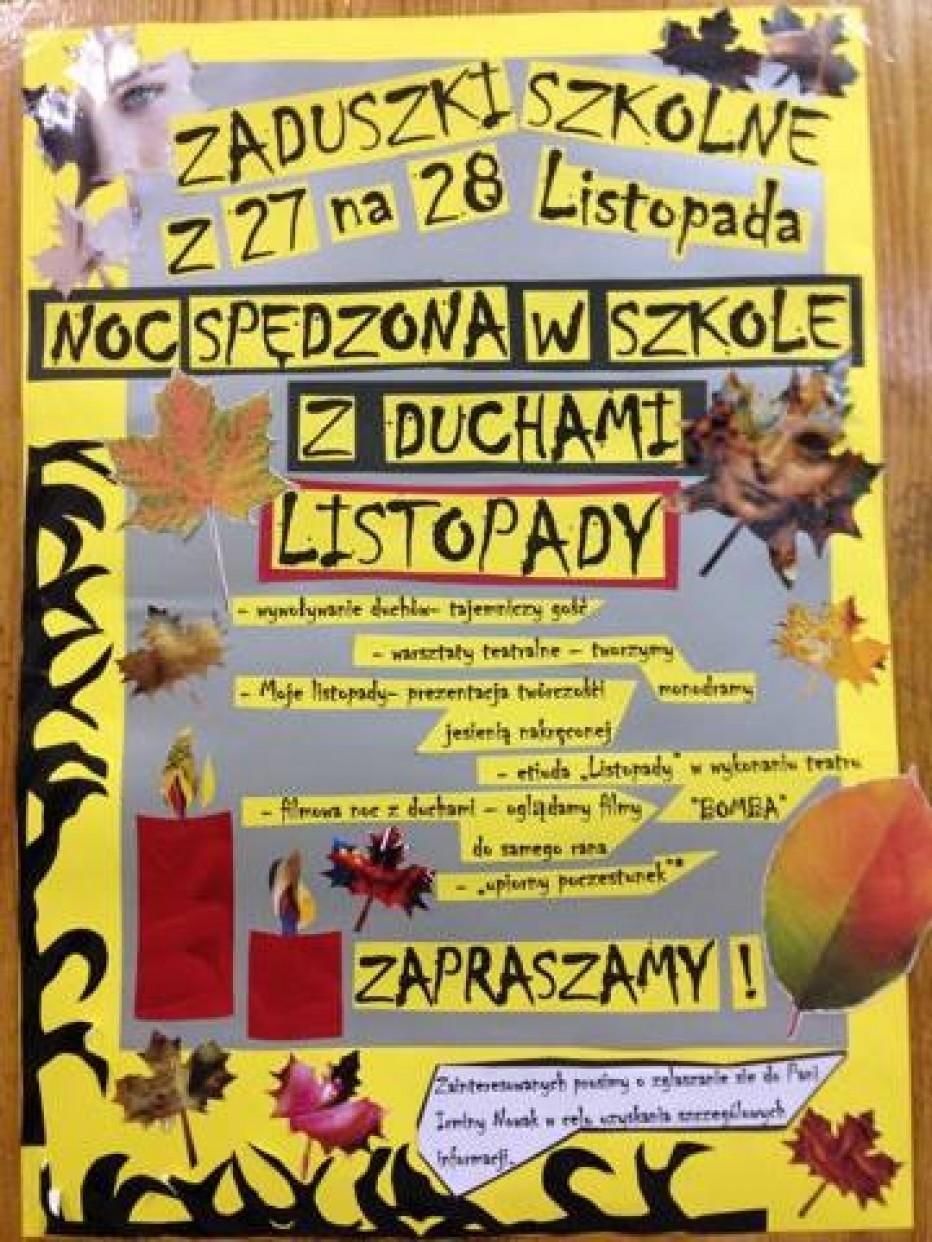 Noc z kulturą, czyli szkolne Listopady
