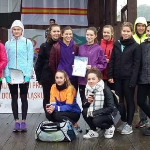 IV miejsce dziewcząt na Dolnym Śląsku w sztafetach przełajowych