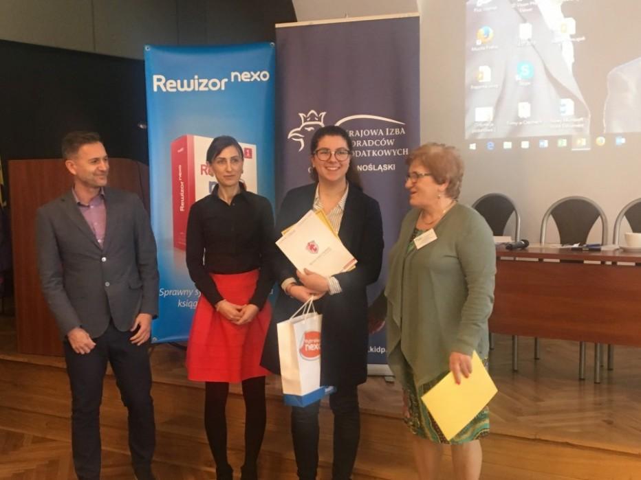 Wiktoria Szczepańska w finale Konkursu Wiedzy o Podatkach