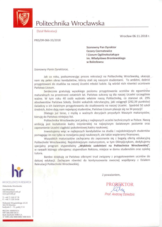 Nasi absolwenci doceniani przez Politechnikę Wrocławską