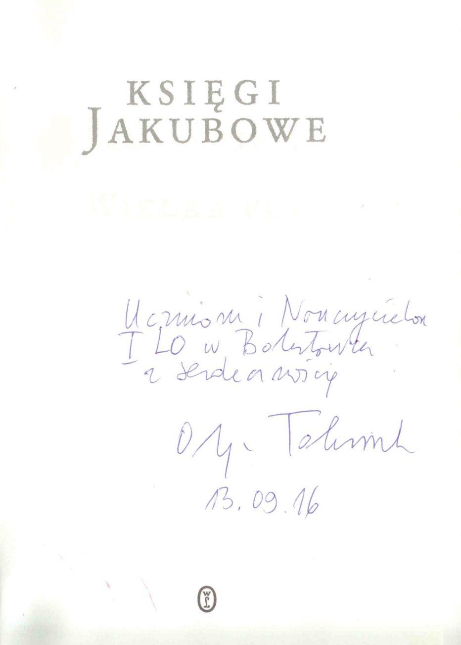 Olga Tokarczuk Literacki Nobel 2018