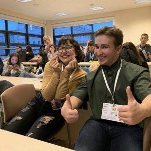 Nasi uczniowie na konferencji w Szkole Głównej Handlowej w Warszawie