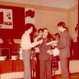 Odszedł Waldemar Hankiewicz, dyrektor szkoły w l.1975-78