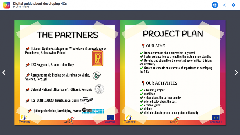 """Erasmus + – finał projektu """"4Cs"""""""
